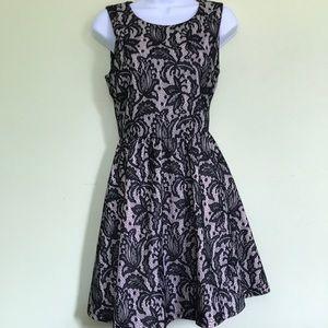 H&M Black Lace Cocktail Dress with Back Zip M